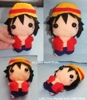 Luffy Chibi Plush from ONE PIECE by lkcrafts