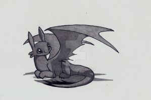 Toothless Full Body by LeanRB