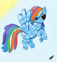 Robot rainbow dash by wolfmad123