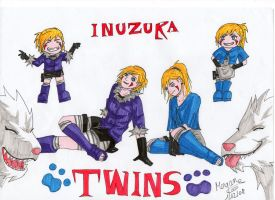 Inuzuka Twins - KCG by moogyAKA
