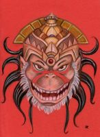 Mischievous Grin of Hanuman by JRtheMonsterboy