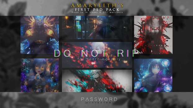 [First PSD Pack] Road to 1k views by Amarylith