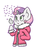 Winter Sweetie Belle by thepiplup