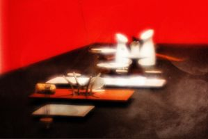 Table Setting in Red, White and Black by pubculture