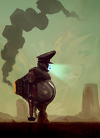 Soviobot Wanders the Wasteland by TDSpiral