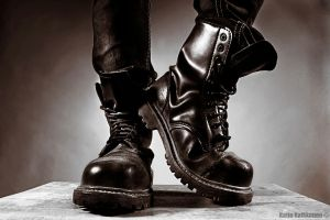Da Military boots by Mndcntrl