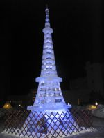 Ice sculpture-Eiffel tower by AWArija