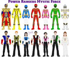 Power Rangers Mystic Force by Ameyal