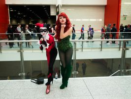 London Super Comicon 96 - Harley and Ivy by cosmicnut