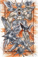 Commish 81 Hawkman Noir by RobDuenas