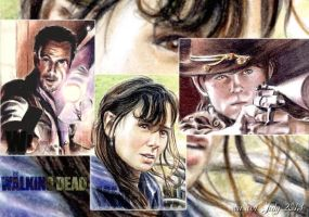 Walking Dead sketchcards by whu-wei