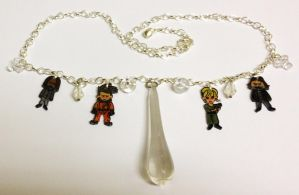 Kawaii Doctor Who The Waters of Mars necklace by Lovelyruthie