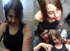 ZOMBIE WALK : make up by LadyNorthstar