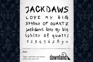 Awe - Font download 10 000+ by dawnland
