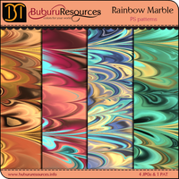 Rainbow Marble patterns by BuburuResources
