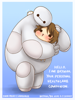 Snuggle with Baymax by mmidori31