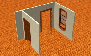 3D model of my room - Day 1 by Crustech