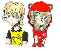 Dortmund and Bayern Personifications by QueenAdorkable