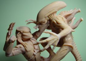 Alien VS. Predator by sculptor101