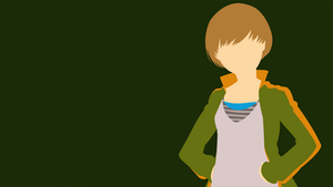 Persona 4 - Chie Minimalist Wallpaper by GaryMotherPuckingOak