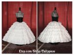 Seven Tiered Ruffle Petticoat 1850's-60's by Caliypsoe