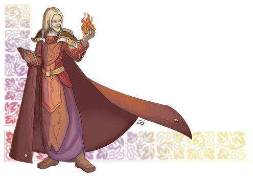 Fire Mage - Caerid by Tee-chew