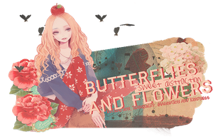 Butterflies and Flowers by KarenAlvizo