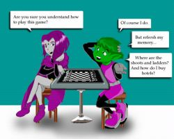 Chess by BlueSerenity by teentitans