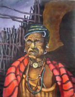 maasai old man by thecelestialone