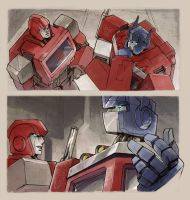 Optimus and Ironhide by ai-eye