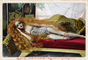 Ophelia lounging after a performance Bjd Art doll by SutherlandArt
