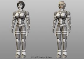 Female Robot Paint Scheme by hauke3000