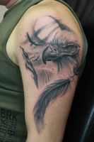 Eagle and feather by SimplyTattoo