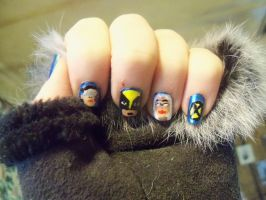 X-MEN Nail Art by Crowmistress