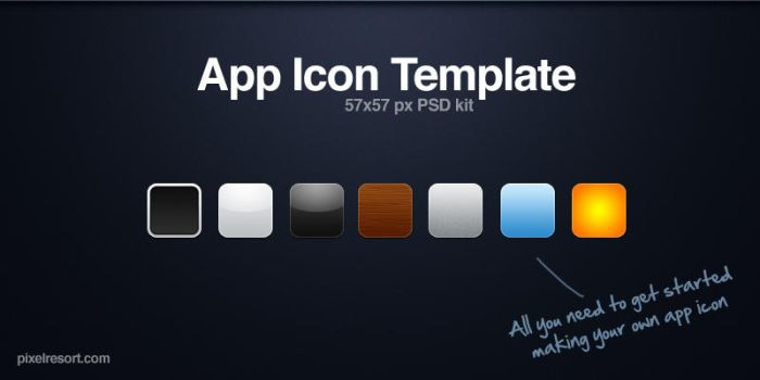 App Icon Template Kit by Flarup