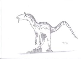 Cryolophosaurus ellioti by KingEdmarka