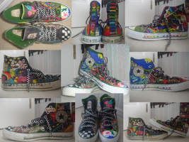 Colored Converse. by noisekisses