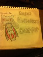 Rosas holloween outfit by Danielle2002