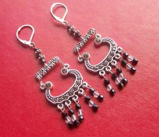 Crystal Chandelier Earrings by BastsBoutique