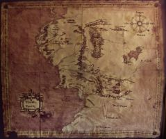 The lord of the Rings Map by LilywhiteBlack