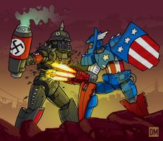 Robo America vs. Mecha Nazi by DanielMead