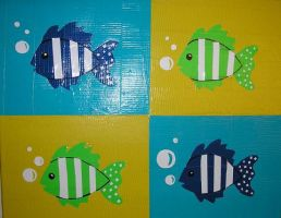 Duct tape fishies by DuckTapeBandit