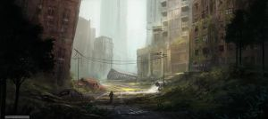 Post Apocalyptic City by HazPainting