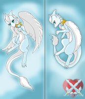 Liz Light dragoness Body Pillow by HeroHeart001
