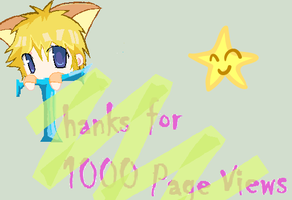 Thanks 1000 Page Views by Karen754