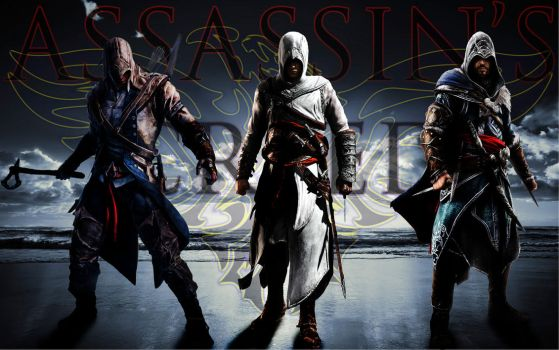 Assassin's Creed (Connor, Altair and Ezio) by AssaCenation