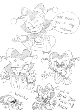 Jester doodles by Yukidog674
