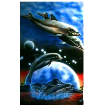 dauphins painted by guitchart
