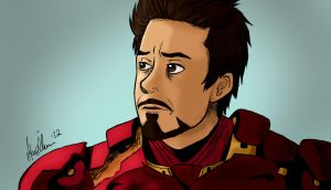 Tony Stark - Iron Man by MariaMisen