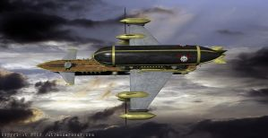 HMS Amaranth, Airship of the Outlanders, III by VynetteDantes
